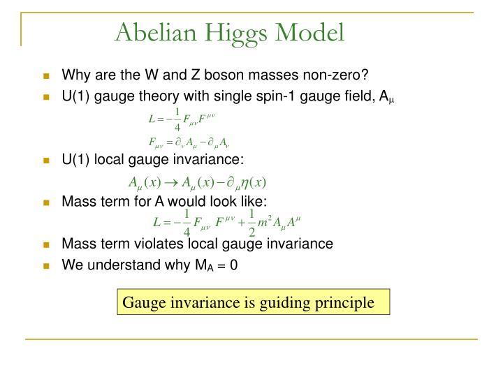 Abelian Higgs Model