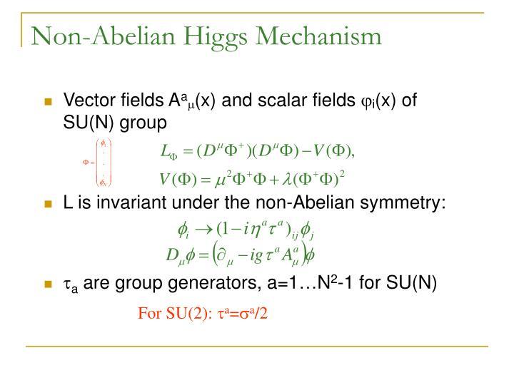 Non-Abelian Higgs Mechanism