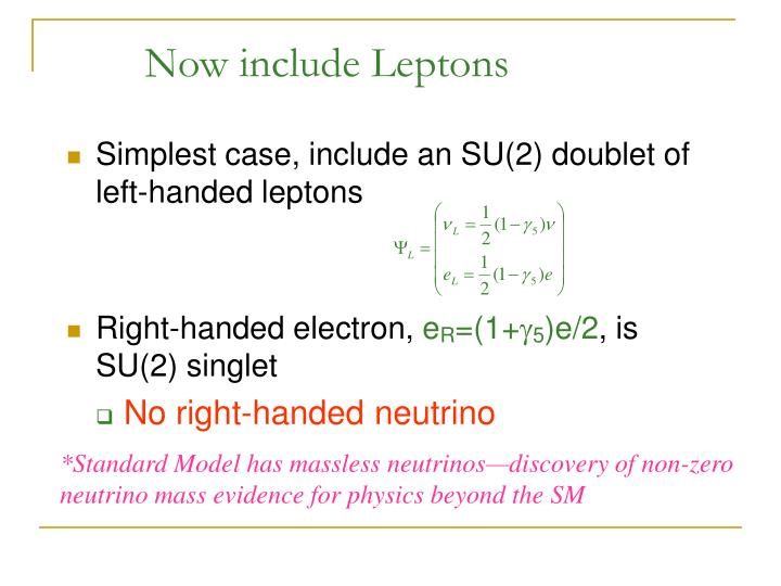 Now include Leptons