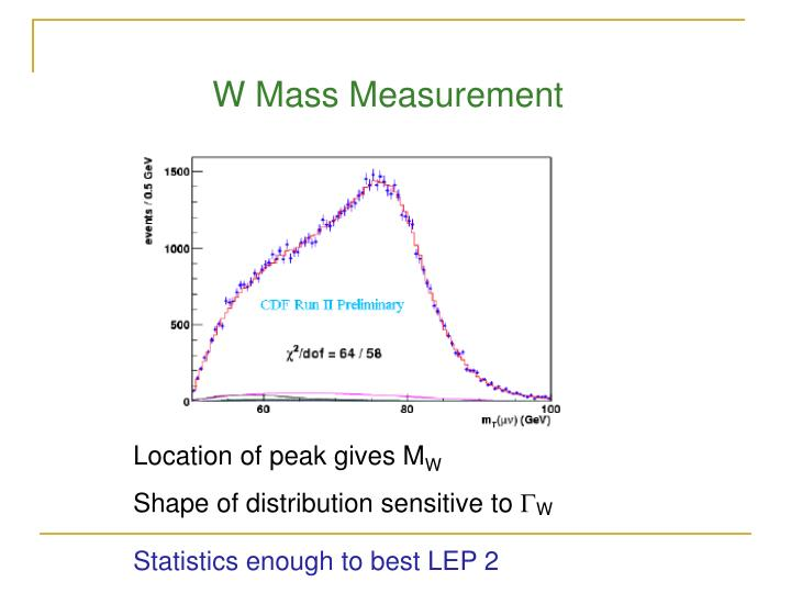 W Mass Measurement