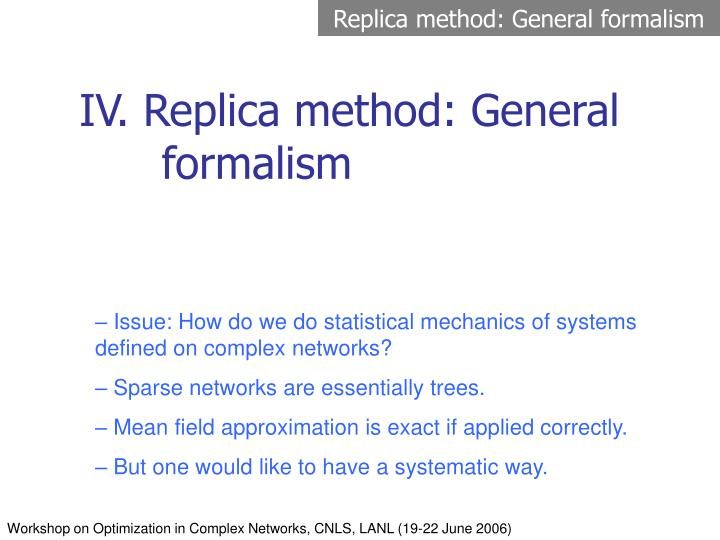 Replica method: General formalism