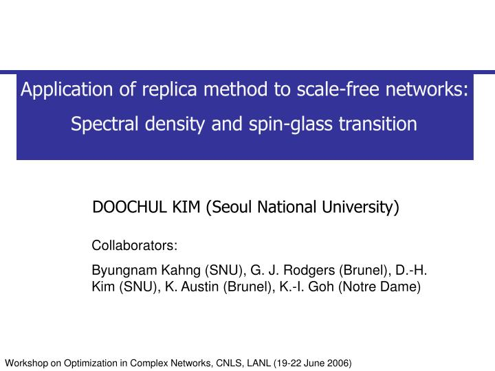 Application of replica method to scale-free networks: