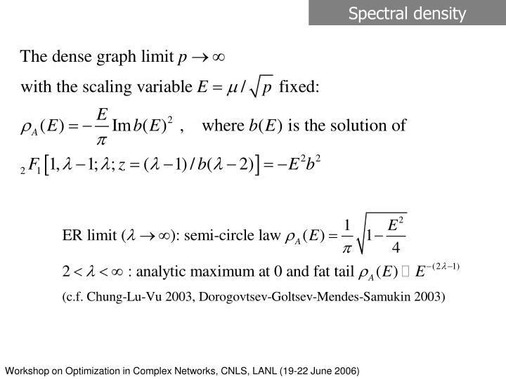 Spectral density
