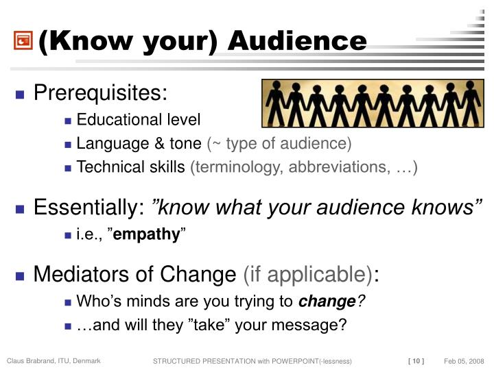 (Know your) Audience