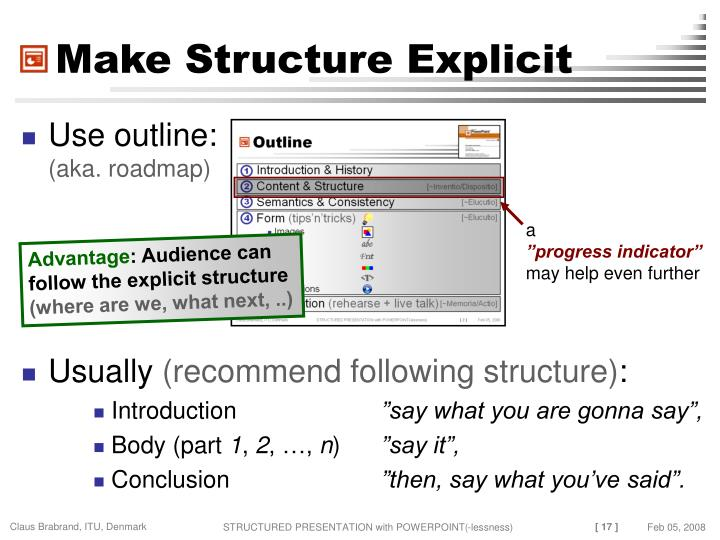 Make Structure Explicit