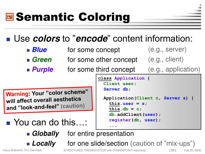 Semantic Coloring