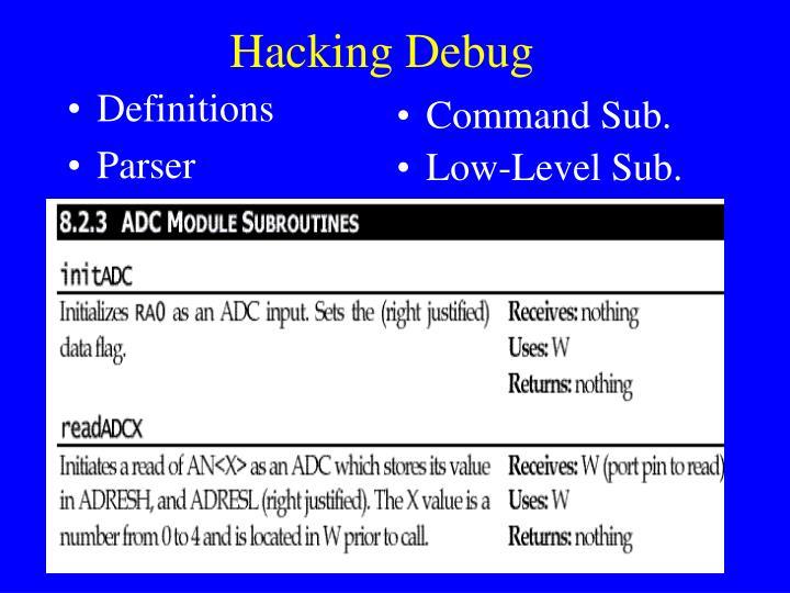 Hacking Debug