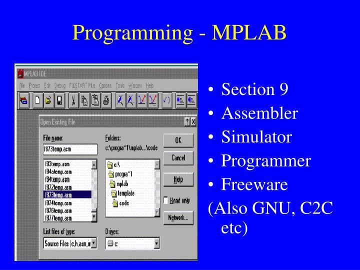 Programming - MPLAB