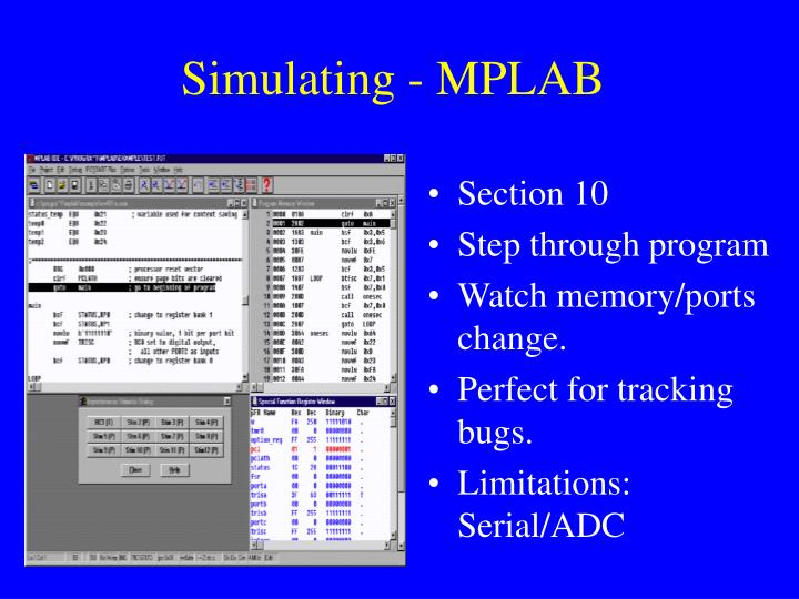 Simulating - MPLAB