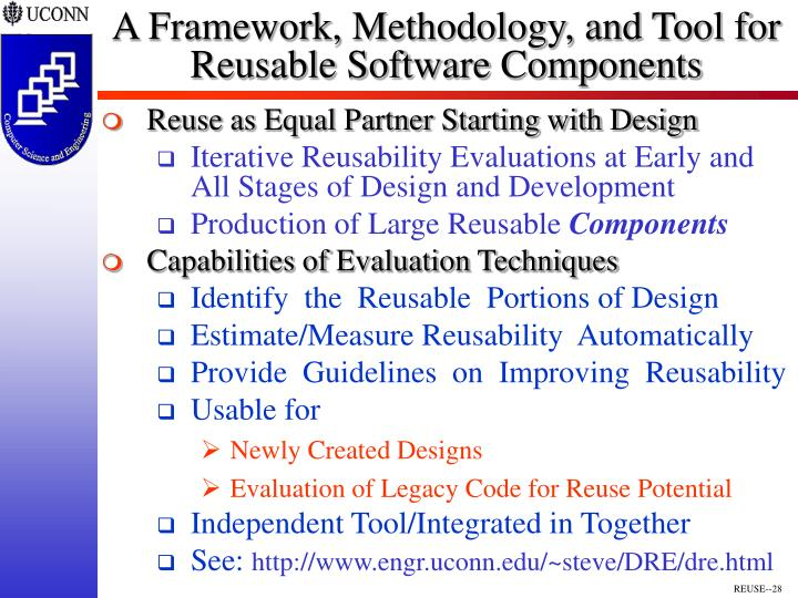 A Framework, Methodology, and Tool for Reusable Software Components