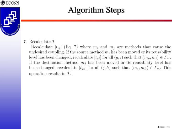 Algorithm Steps