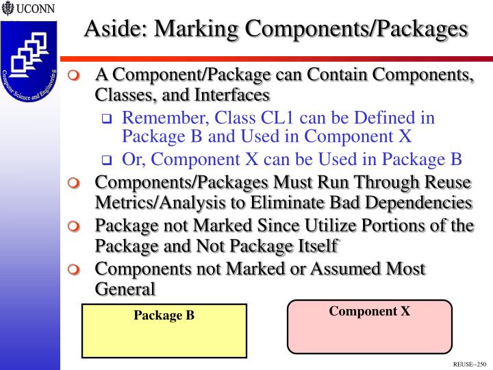 Aside: Marking Components/Packages