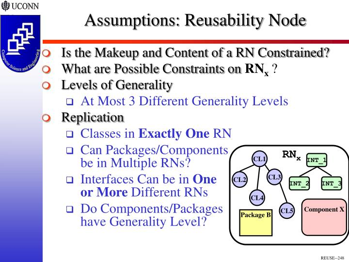Assumptions: Reusability Node