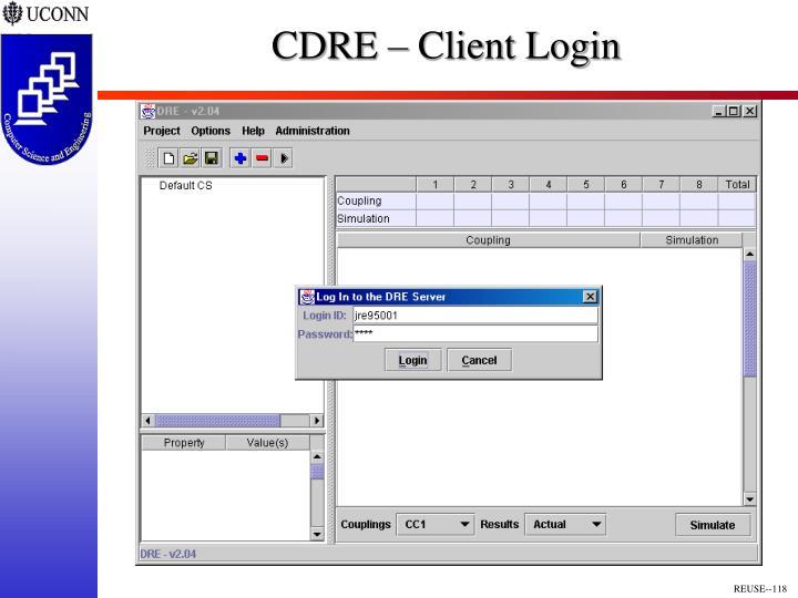 CDRE – Client Login