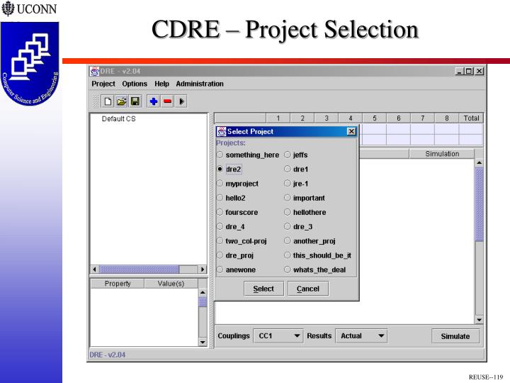 CDRE – Project Selection