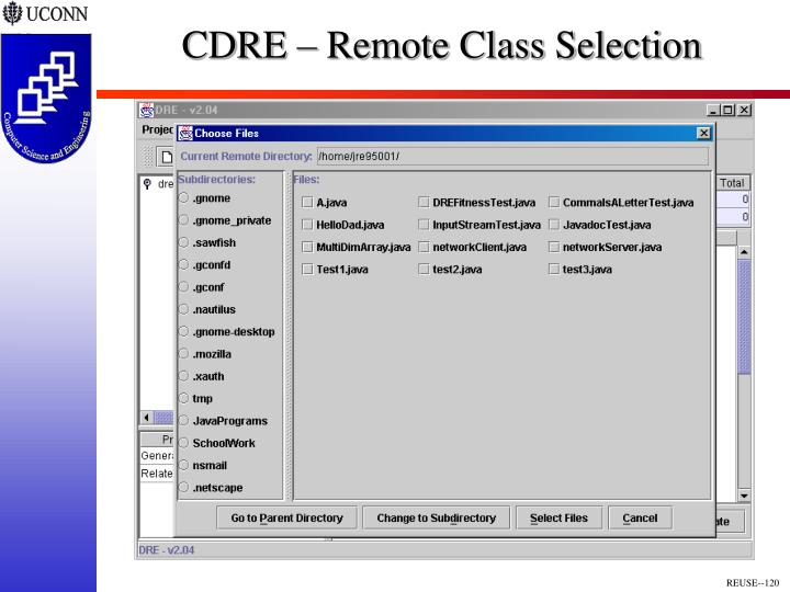 CDRE – Remote Class Selection