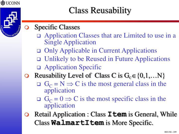 Class Reusability