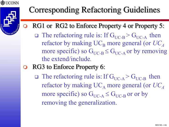 Corresponding Refactoring Guidelines