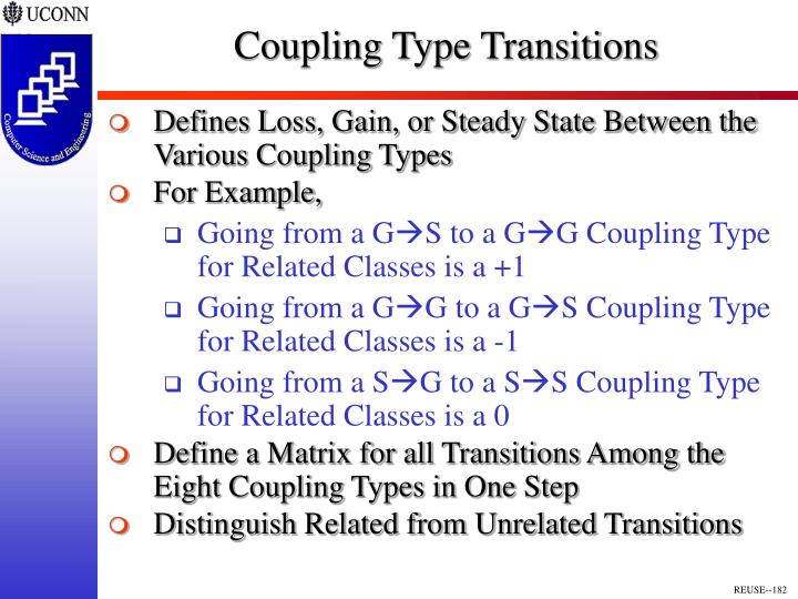 Coupling Type Transitions