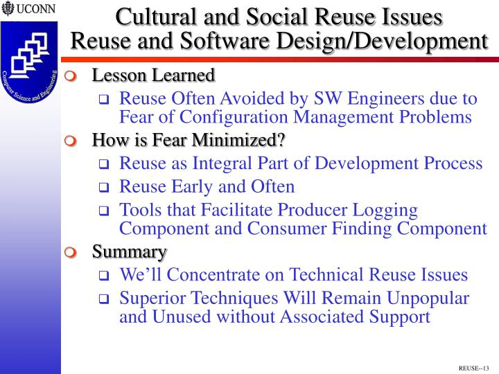Cultural and Social Reuse Issues