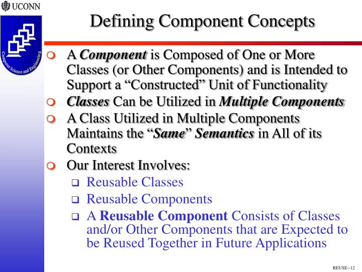 Defining Component Concepts