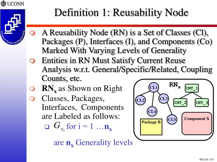 Definition 1: Reusability Node