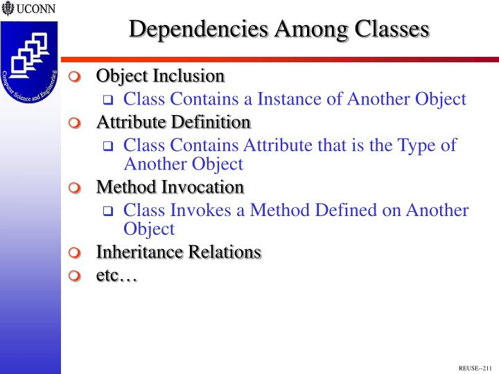 Dependencies Among Classes