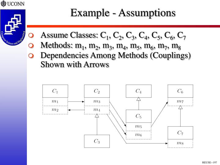 Example - Assumptions
