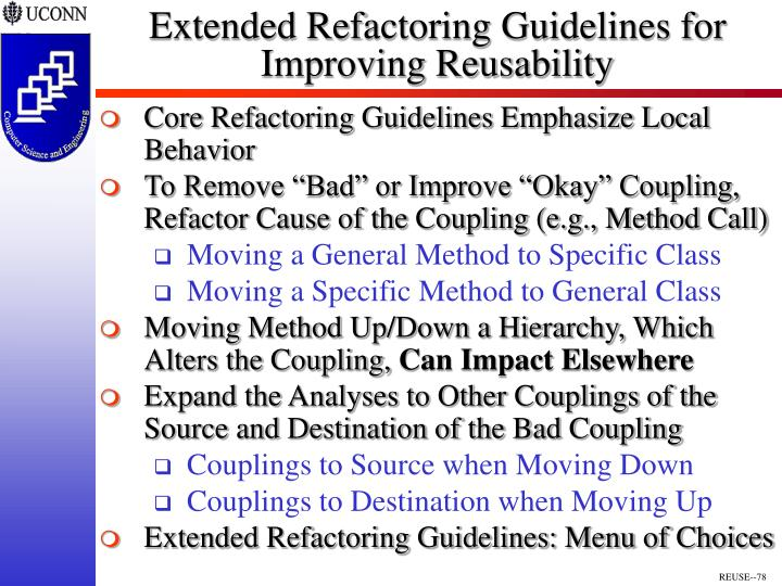Extended Refactoring Guidelines for
