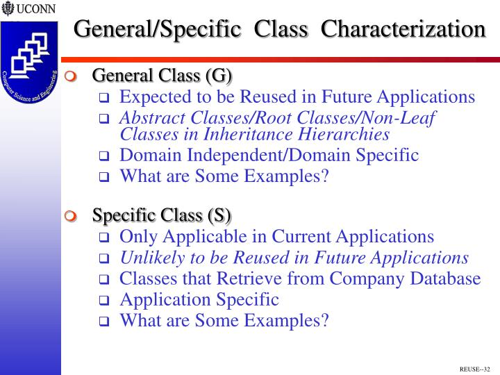 General/Specific  Class