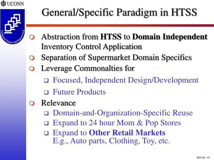 General/Specific Paradigm in HTSS