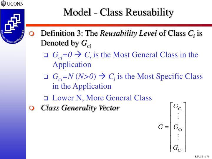 Model - Class Reusability