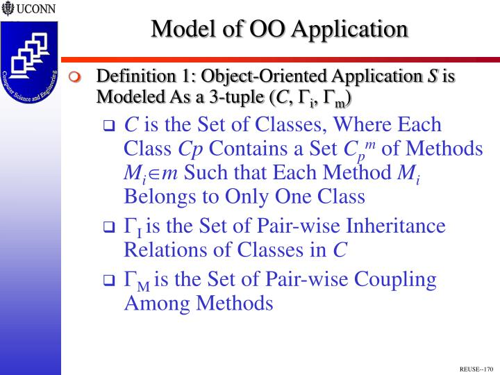 Model of OO Application