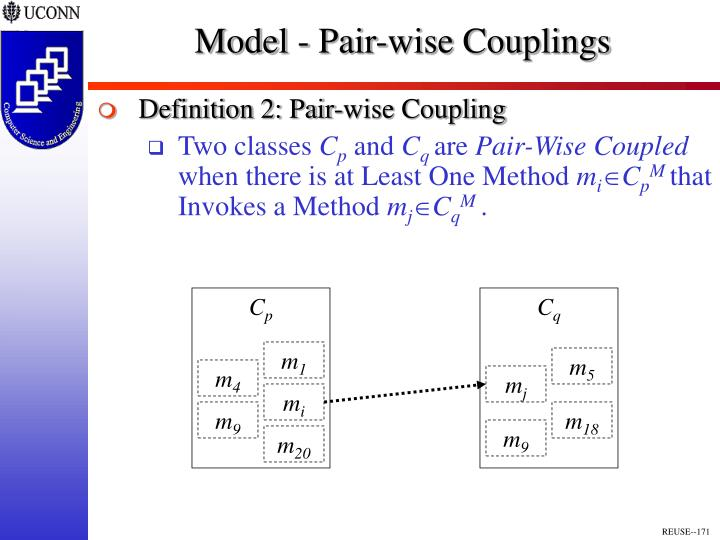 Model - Pair-wise Couplings
