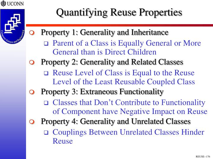 Quantifying Reuse Properties