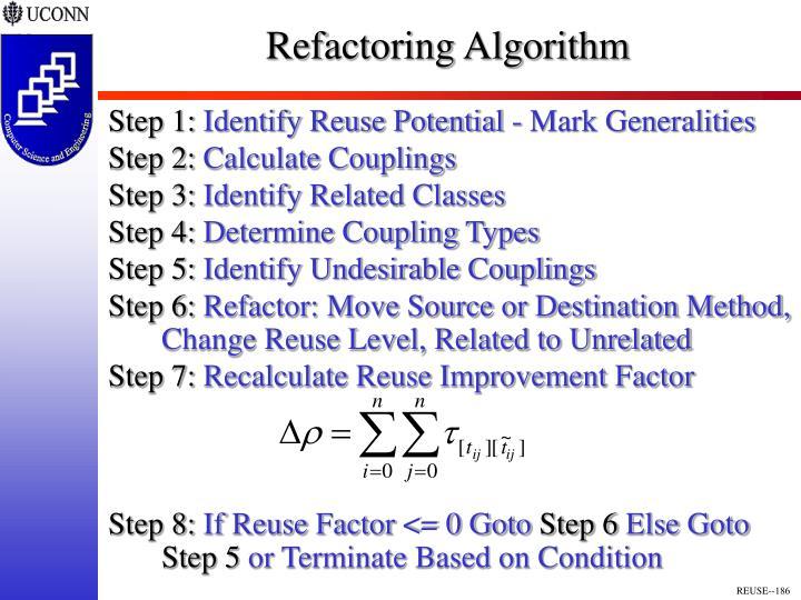 Refactoring Algorithm