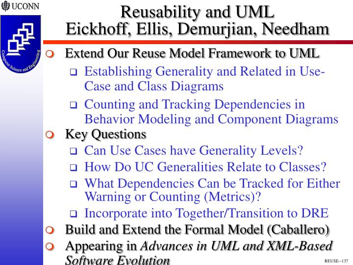 Reusability and UML