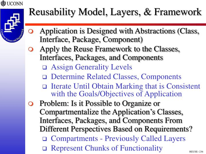 Reusability Model, Layers, & Framework