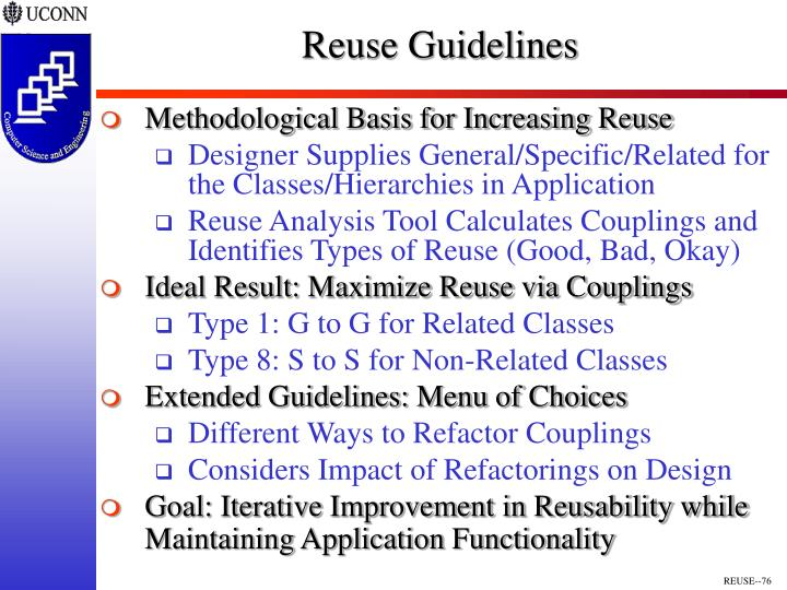 Reuse Guidelines