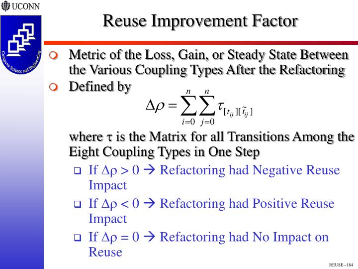 Reuse Improvement Factor