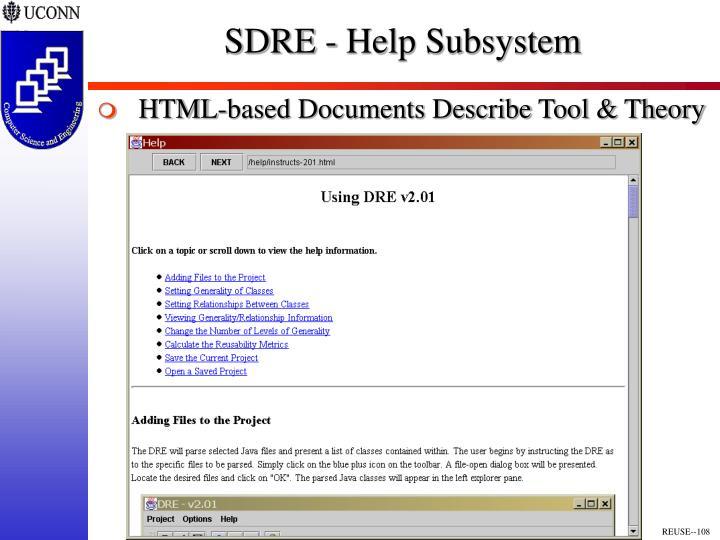 SDRE - Help Subsystem