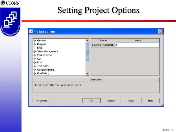 Setting Project Options