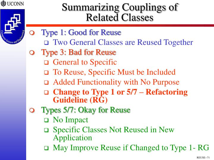 Summarizing Couplings of
