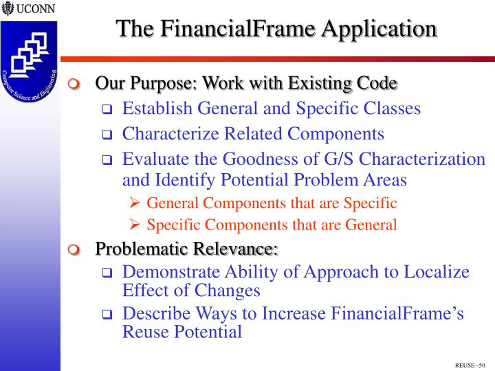 The FinancialFrame Application