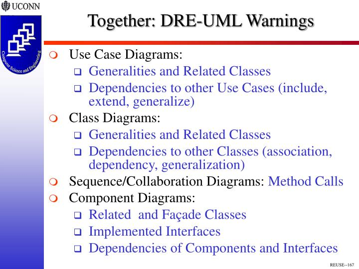 Together: DRE-UML Warnings