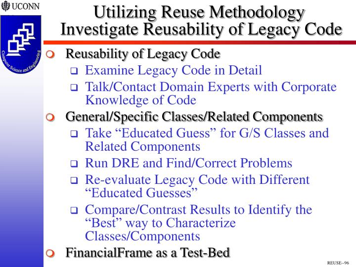 Utilizing Reuse Methodology