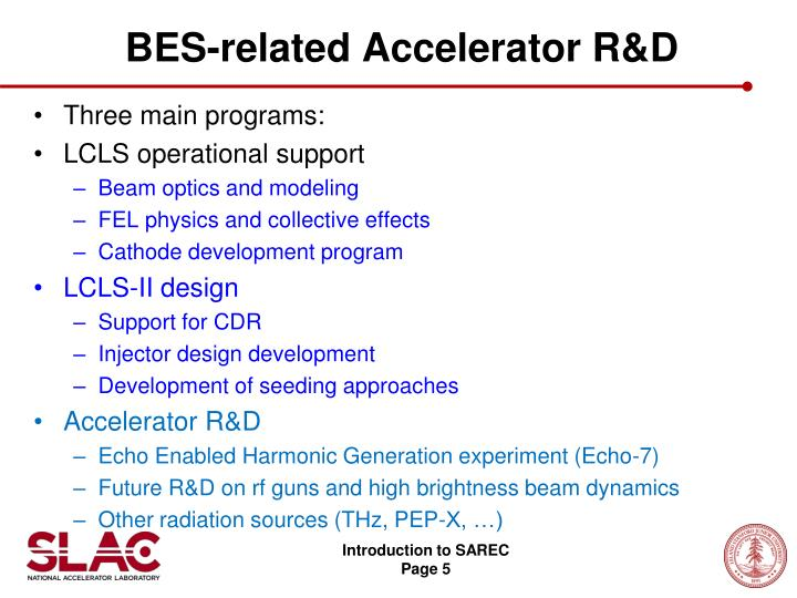BES-related Accelerator R&D