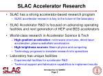 slac accelerator research