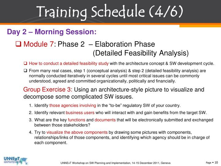 Training Schedule (4/6)