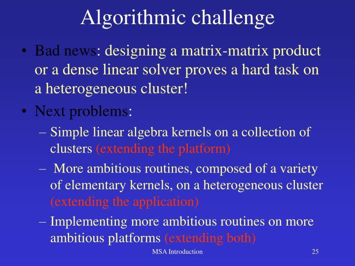 Algorithmic challenge